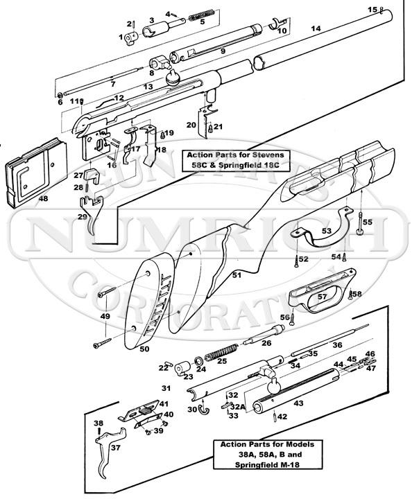 Savage Shotgun Parts: SAVAGE MODEL 99 LEVER ACTION RIFLE